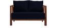 Dijon Two Seater Sofa in Navy Blue Colour by Auspicious
