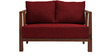 Dijon Two Seater Sofa in Red Colour by Auspicious