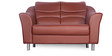 Diva Two Seater Sofa in Brown Finish by Godrej Interio