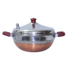 Diamond Pressure Cooker Stainless Steel Multi Kadai Cum Idly Vessel