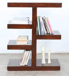 Display Unit Cum Book Shelf In Walnut Finish By BIC