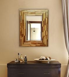 Divine Decor Brown Teak Wood Vivanta Mirror