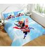 DC Tex Justice League Multicolour 100% Cotton Double-Size Bedsheet with Pillow Covers