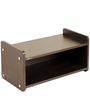 Diego Shoe Rack Cabinet Stand (2 Shelves) in Wenge Colour by Bluewud