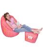 Digital Printed Big Boss Chair (XXXL) & Puffy Combo (Without Beans) by Orka