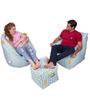 Digital Printed Big Boss Chair & Arm Chair (XXXL)& Puffy with Beans by Orka