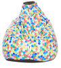 Digital Printed XL Bean Bag Cover without Beans with Colourful Hexagon Design by Can