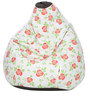 Digital Printed XL Bean Bag Cover without Beans with Red Rose Design by Can