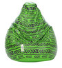 Digital Printed XL Bean Bag Filled with Beans with Green Pattern by Can