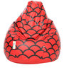 Digital Printed XL Bean Bag Filled with Beans with Red Pattern by Can