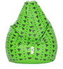 Digital Printed XL Bean Bag Filled with Beans with Triangle Design by Can