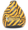 Printed XL Bean Bag Filled with Beans with Under Construction Design by Can