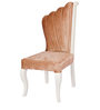 Dining Chair in Beige & White Colour by Karigar