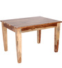 Dallas Four Seater Dining Set in Natural Finish by Woodsworth