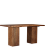 Portland Eight Seater High Dining cum Bar Table in Premium Acacia Finish by Woodsworth