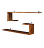 Velasco Contemporary Wall Shelves Set of 2 in Brown by CasaCraft