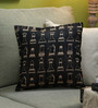 Diwa Home Gold Polyester 16 x 16 Inch Check & Mate Cushion Cover