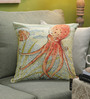 Diwa Home Multicolour Cotton 18 x 18 Inch Octopus Cushion Cover