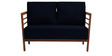 Dominico Two Seater Sofa in Navy Blue Colour by Auspicious