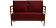Dominico Two Seater Sofa in Red Colour by Auspicious