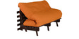 Double Futon with Mattress in Light Brown Colour by Auspicious