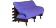 Double Futon with Mattress in Purple Colour by Auspicious
