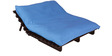 Double Futon with Mattress in Sky Blue Colour by Auspicious