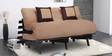 Double Futon with Two Pillows in Light & Dark Brown Colour by Auspicious Home