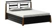 Metallic King Size Bed with Hydraulic Storage by FurnitureKraft