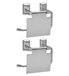 Doyours Glossy Stainless Steel 5.3 x 5.7 x 3.1 Inch Toilet Paper Holder Set