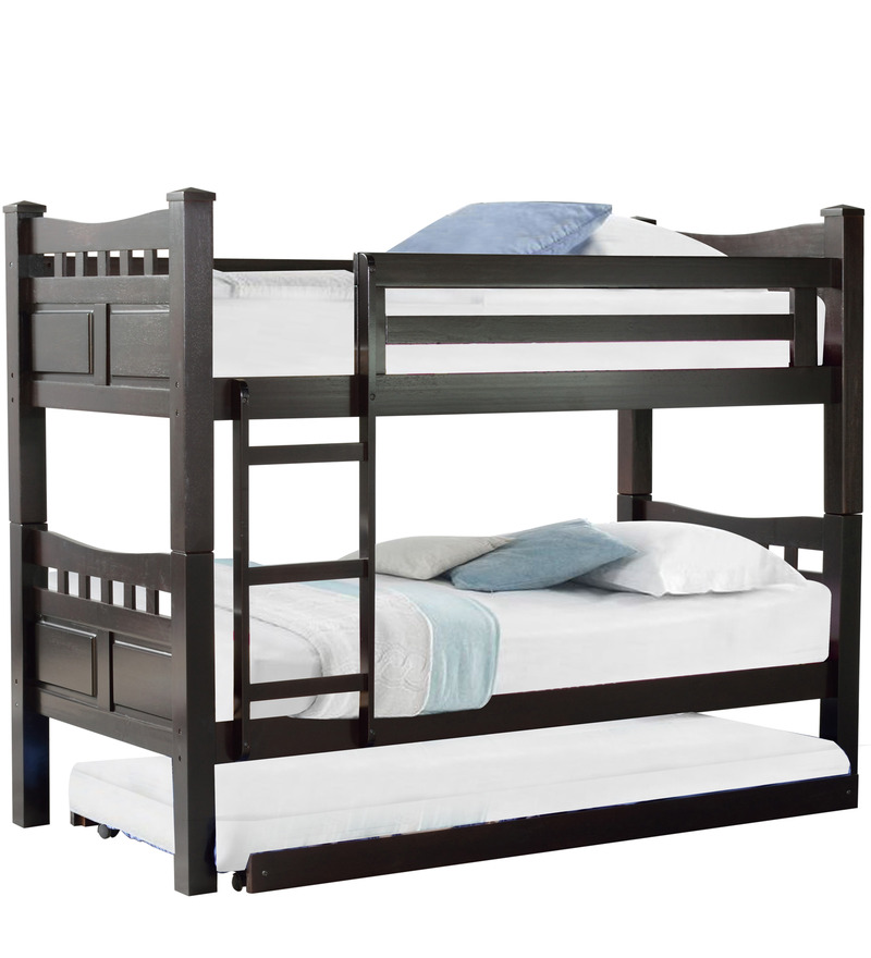 Buy Mclarry Bunk Bed With Pull Out In Cappuccino Finish By