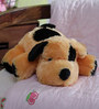 Novel Dog Cum Baby Pillow Soft Toy in Black & Brown
