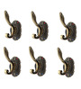 Dolphy Black Aluminum Towel and Clothes Wall Hanger - Set of 6