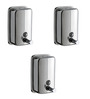 Dolphy Silver Stainless Steel Liquid Soap Dispenser  500ml -Set of 3