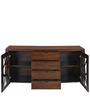 Dona Cabinet with 2 Doors & 4 Drawers in Walnut Finish by Nilkamal