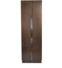 Hotaka Two Door Wardrobe with Mirror in Walnut Finish by Mintwud