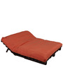 Double Futon Sofa Cum Bed with Mattress in Orange by Arra