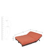 Double Futon Sofa Cum Bed With Mattress - RED by ARRA