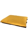 Double Futon Sofa Cum Bed with Mattress in Yellow Colour by ARRA