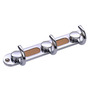 Doyours Wengy Chrome White Metal Multipurpose Hook Rail