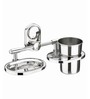 Doyours Silver Stainless Steel Soap Dish & Tumbler