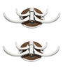 Doyours Designer Wengy Stainless Steel & Metal Silver Multipurpose Hook - Set of 2