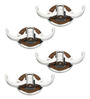 Doyours Designer Wengy Stainless Steel & Metal Silver Multipurpose Hook - Set of 4