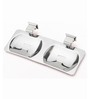 Doyours Silver Stainless Steel Twin Soap Dish