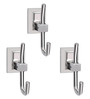 Doyours Glossy Stainless Steel 4 Inch Robe Hook - Set of 3