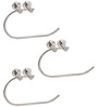 Doyours Glossy Steel C-shaped 8.4 x 5.3 x 2.7 Inch Towel Ring - Set of 3
