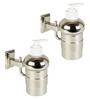Doyours Glossy Stainless Steel 5.1 x 5.7 x 2.5 Inch Soap Dispenser Set