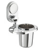 Doyours Glossy Stainless Steel 4.5 x 4.3 x 3.5 Inch Toothbrush Holder