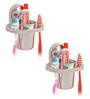 Doyours Glossy Stainless Steel 4.3 x 3.5 x 2.5 Inch Toothbrush Holder Set