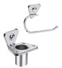 Doyours Glossy Stainless Steel Toothbrush Holder & Towel Ring Set
